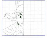 Completa el dibujo #mulan