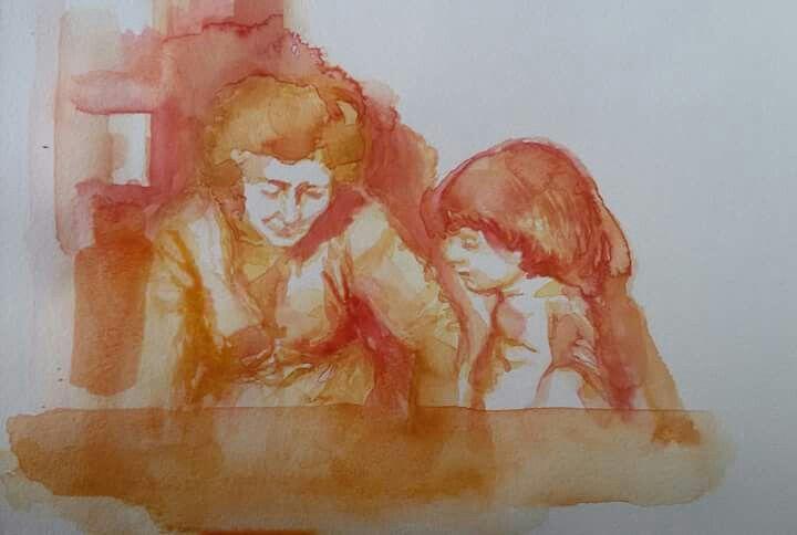 Nonna e nipotina.