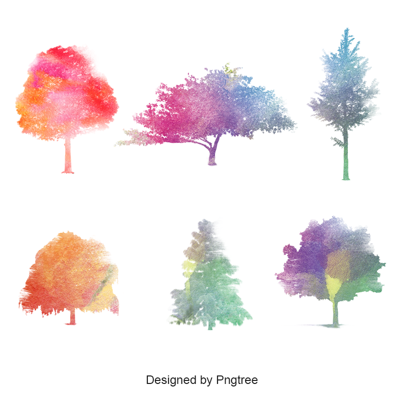 Watercolor Tree Collection Nature Green Colorful Png Transparent Clipart Image And Psd File For Free Download Watercolor Tree Watercolor Trees Watercolor Tree Print