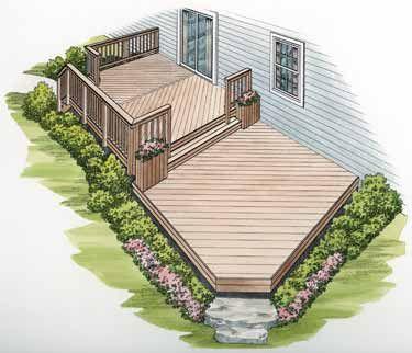 Two Level Decks Backyard Deck Designs Backyard Backyard Patio Designs