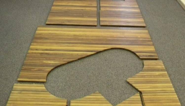 Rubber Mat For Outdoor Shower Teak