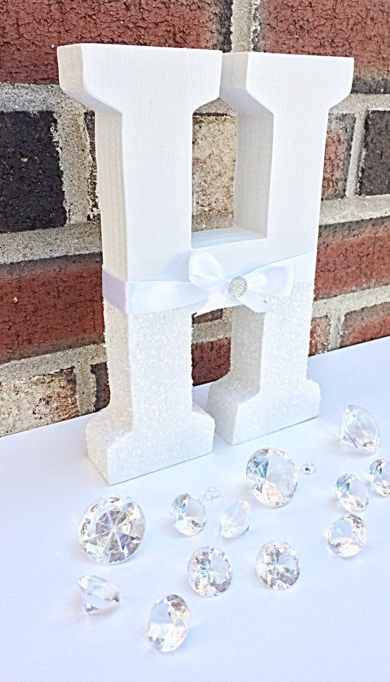 White Glitter LettersNursery LettersSweetheart Table Centerpiece