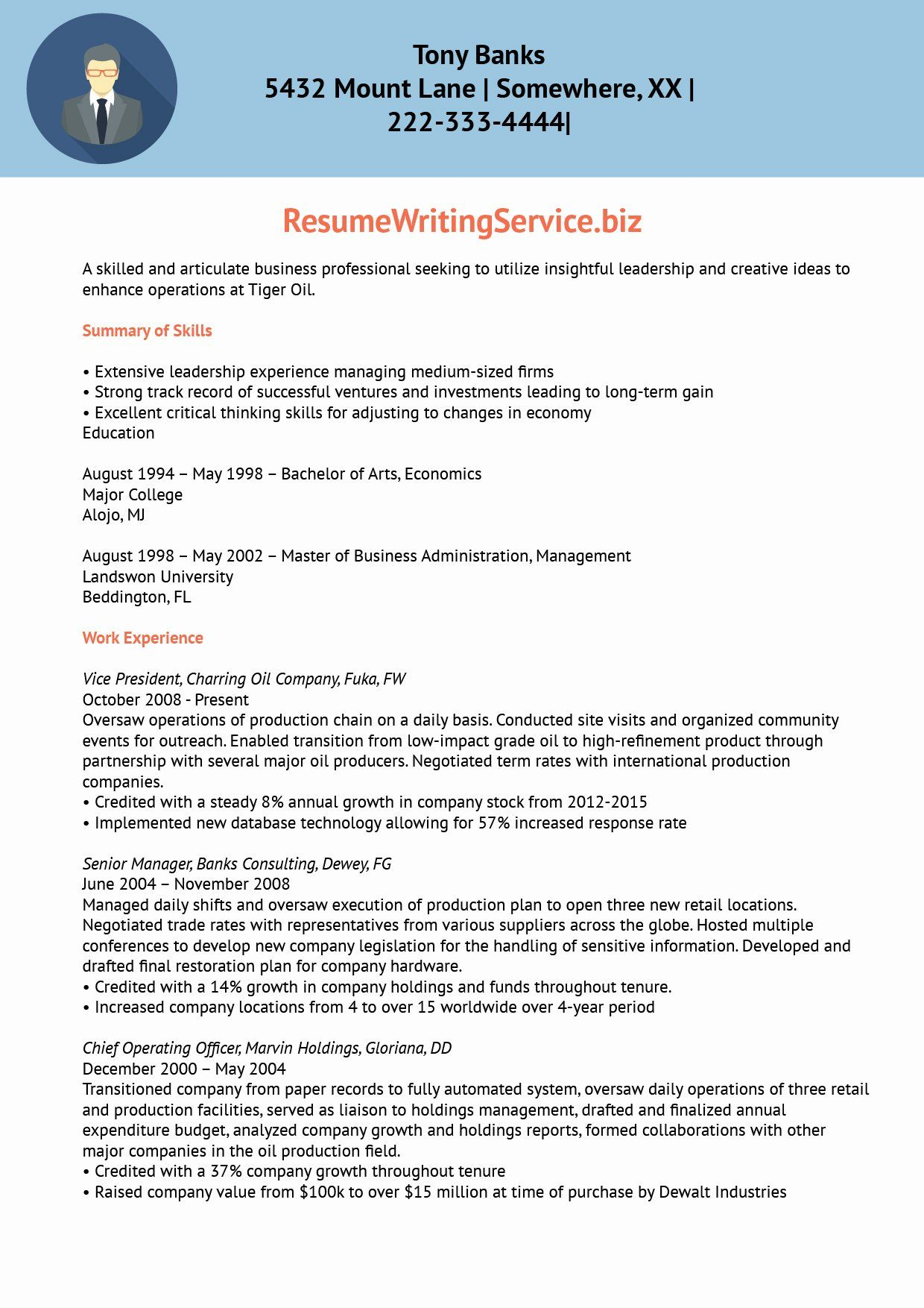 Information technology consultant resume best of business