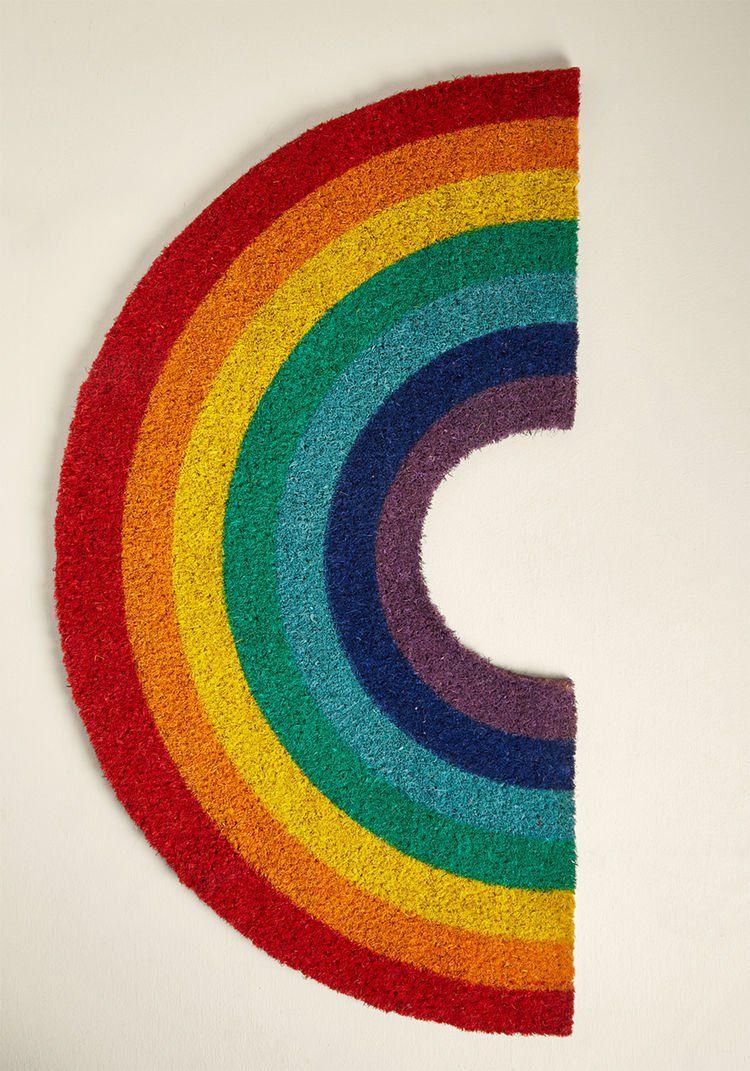 Chase the rainbow doormat rainbow whimsical decor door mat