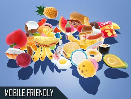 FREE Food Pack #lowpolyfood #gameresources #3Dmodel