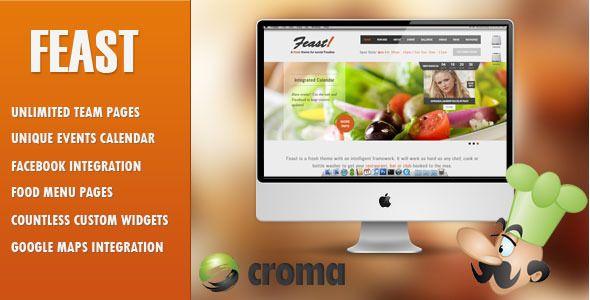 Feast - Facebook Fanpage & WordPress theme   Wordpress, Restaurant ...