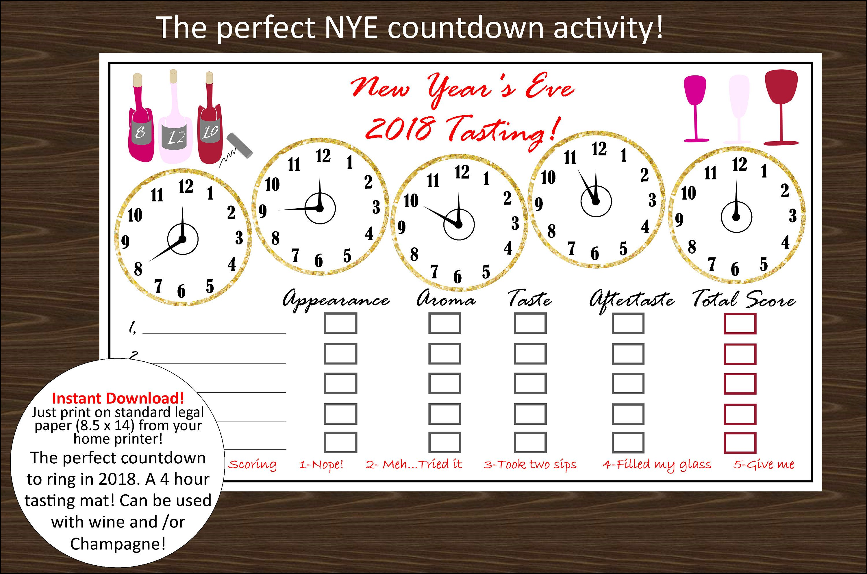 New Years Eve party countdown tasting, New Year\'s Eve games, NYE ...