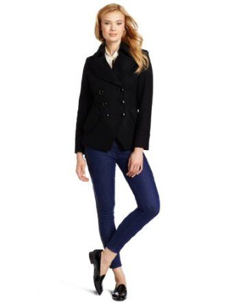 Trina Turk Women's Short Pea Coat, Black, 8 Trina Turk. $197.50 ...