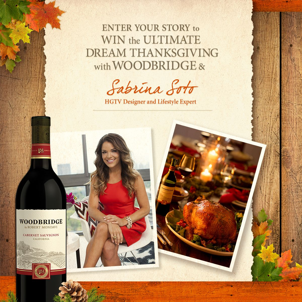 We're excited to launch our #DreamThanksgiving #contest. Would you like @hgtv designer #SabrinaSoto to visit your home and share her tips and tricks for unforgettable #holidayentertaining? If so, enter here to #win: http://bit.ly/Woodbridge_DreamThanksgiving #thanksgiving