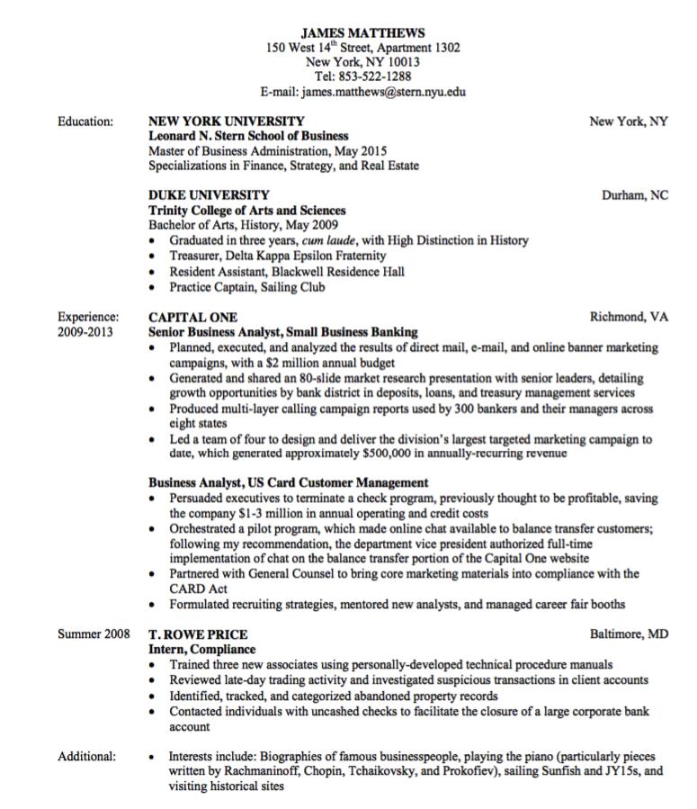Finance Resume Sample Examples Resume Cv