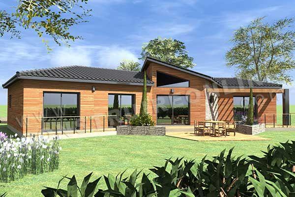 plan de maison plain pied moderne enjoy terrasse maisons lugano pinterest google - Constructeur Maison Contemporaine Toit Plat Avec Pasio