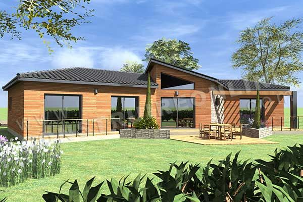 plan de maison plain pied moderne enjoy terrasse maisons lugano pinterest google - Plan Maison Moderne Plain Pied