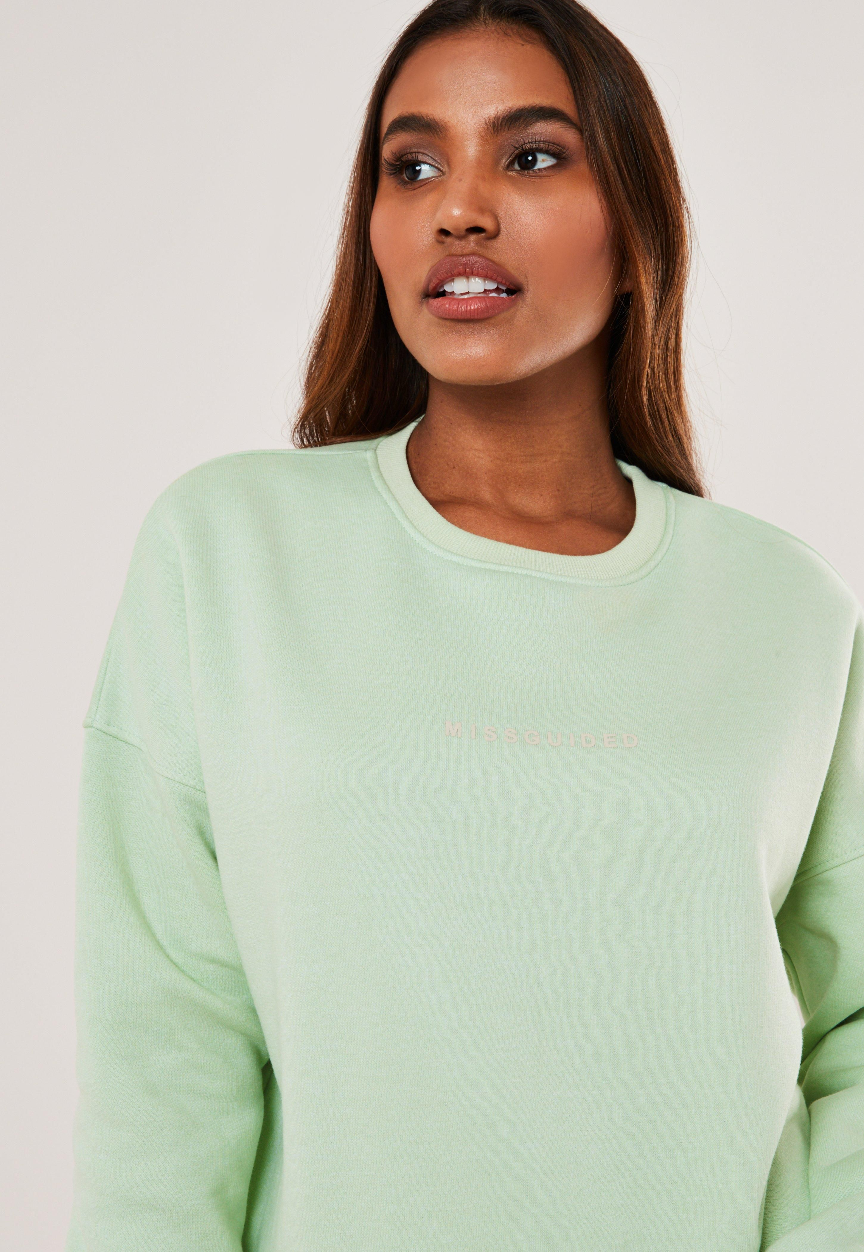 Green Missguided Oversized Crew Neck Sweatshirt Sponsored Oversized Sponsored Missguided Green Crew Neck Sweatshirt Womens Tops Sweatshirts [ 4200 x 2900 Pixel ]