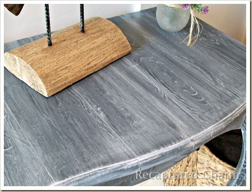 How To Use A Wood Graining Tool Faux Wood Paint Shabby Chic Kitchen Decor Redo Furniture