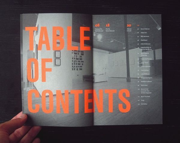 table graphic design inspiration. Typeforce Exhibition Catalogue By Darren McPherson Table Graphic Design Inspiration R