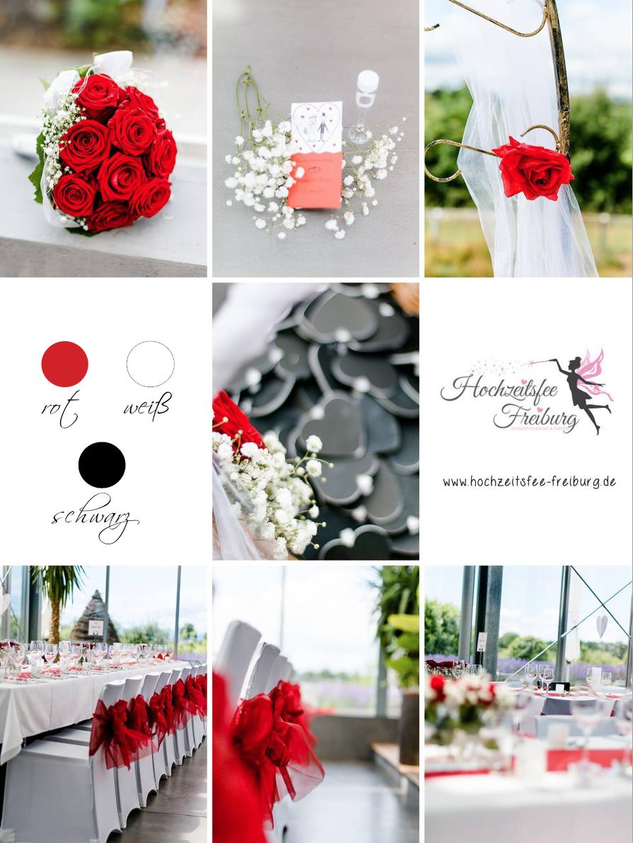 Hochzeit In Rot Weiss Schwarz Planung Und Umsetzung Hochzeitsfee