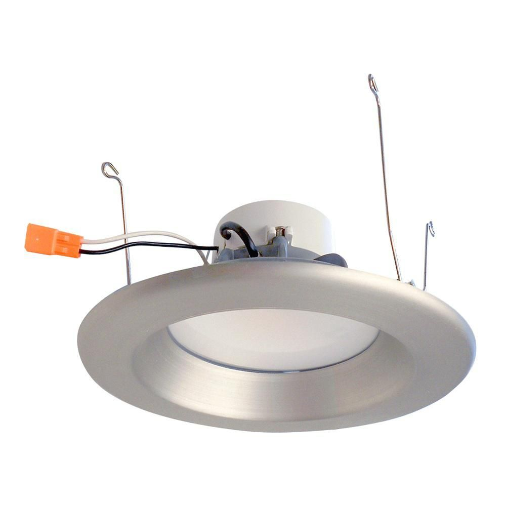 Envirolite 6 in brushed nickel recessed housing led ceiling light brushed nickel recessed housing led ceiling light trim ring with 96 cri aloadofball Images