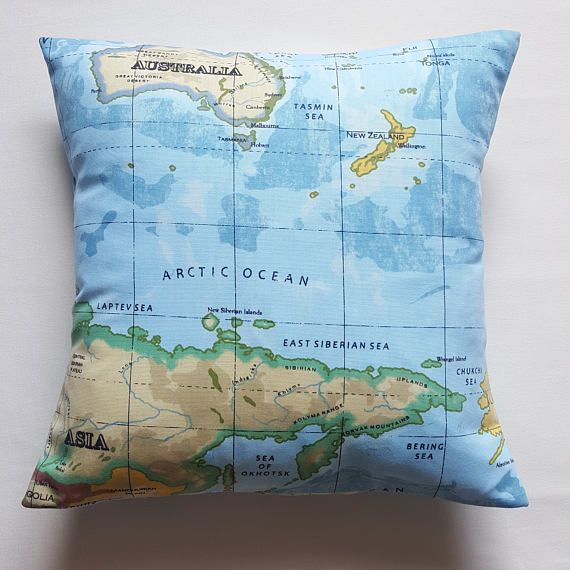 Blue world map cushion cover blue cushion world map pillow world blue world map cushion cover blue cushion world map pillow world atlas cushion cover kids room cushion 16 x 16 ready for dispatch gumiabroncs Images