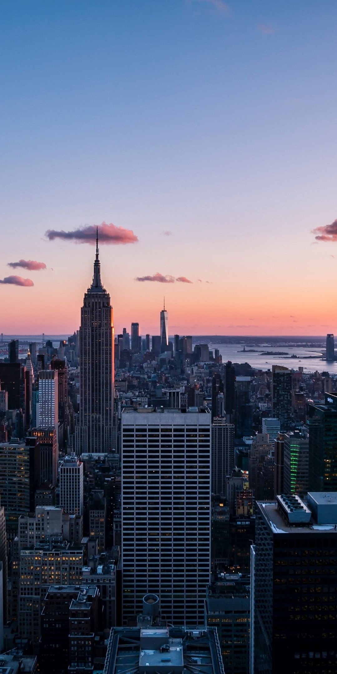 Cityscape, evening, buildings, New York, 1080x2160 wallpaper#1080x2160 #buildings #cityscape