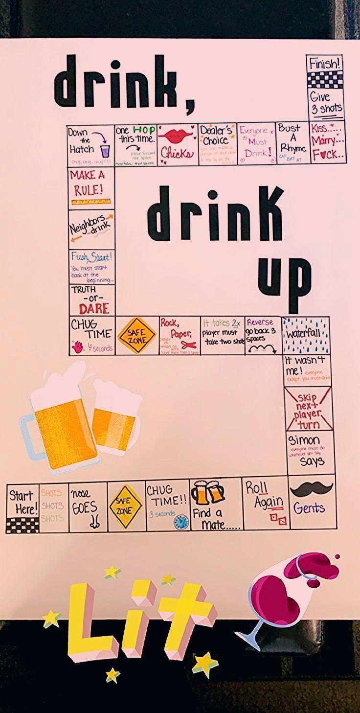 Photo of DIY drinking board game – Poloroide Diys