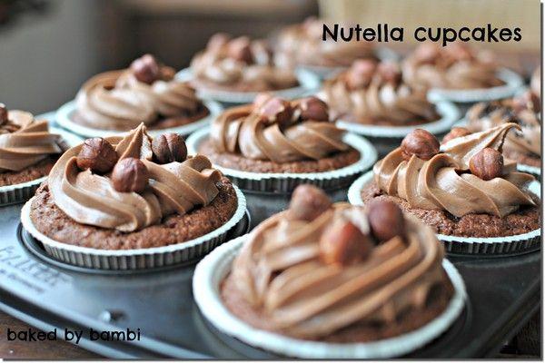 choklad cupcakes nutella