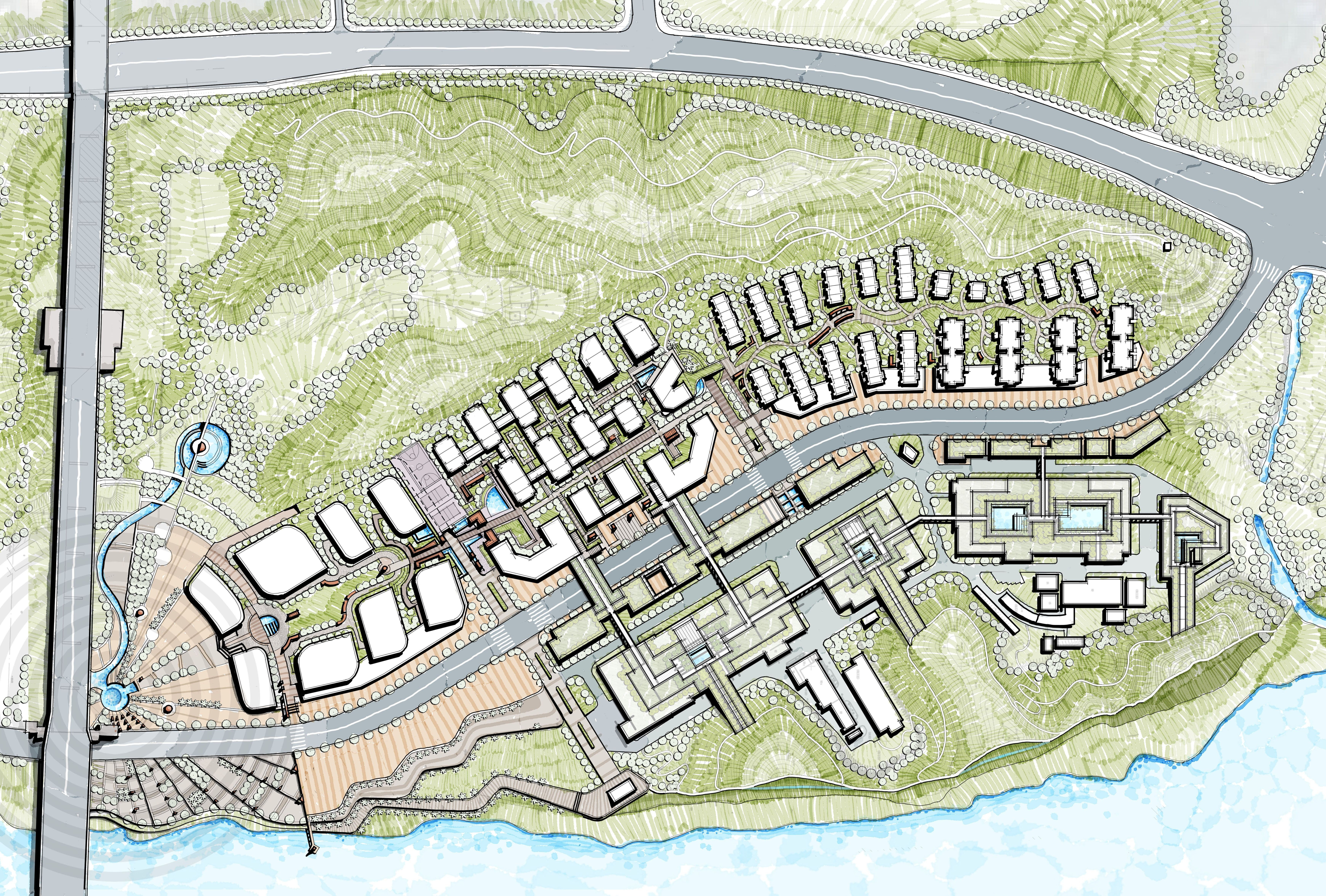 Landscape Master Plan School Mix Use Development Industrial Area Redevelopment Master Plan Public Space School
