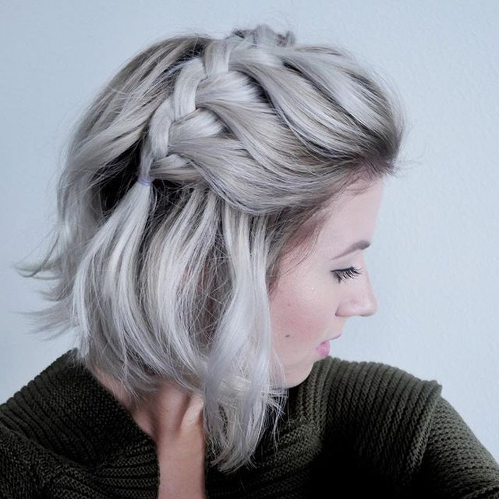 38 Lovely Braided Short Hairstyles Ideas Match For