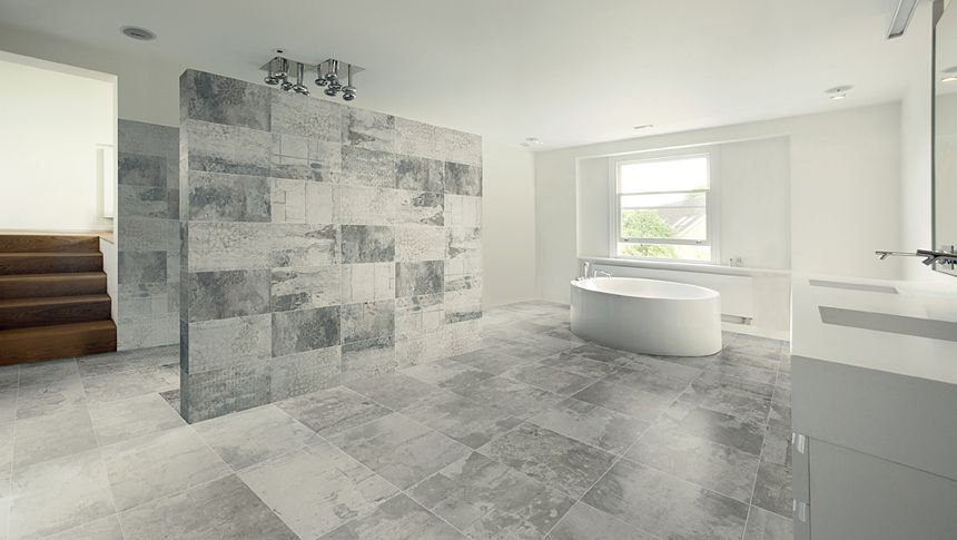 Tile Decorations Simple A Minimalist Bathroom With Various Shades Of Greytype Of Tile Decorating Inspiration