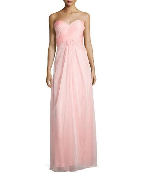 """LCS16_TC5L0  La Femme Sweetheart Strappy Jewel-Back Gown, Cotton Candy Pink Compare to: $358.00  Price: $249.00  With 30% off : $174.30  Online Inquiries: LCS16_TC5L0   