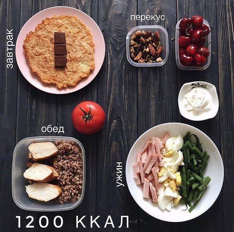 Здоровая Диета 1200 Ккал. Простое меню на 1200 калорий в день