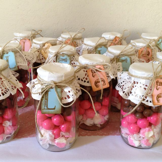 Diy Candy Jars Laz Notes Great Idea For Toffee Use Red Green Doilies Christmas Ribbon Or Cupcake Liners Enfeites Cha De Revelacao