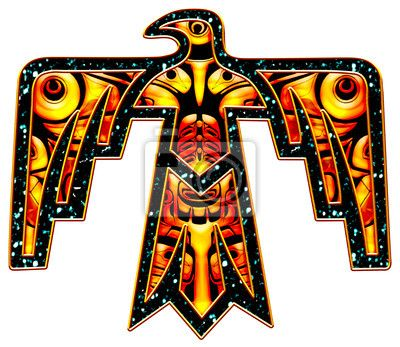 Wall mural donnervogel thunderbird native american for Thunderbird jewelry albuquerque new mexico