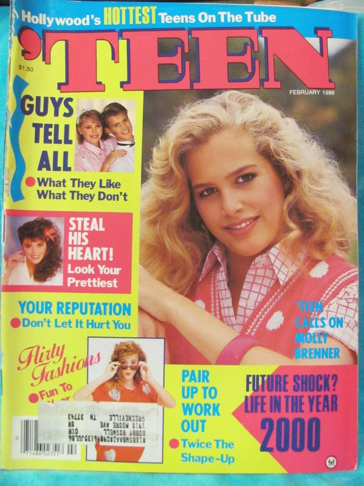 Teen magazine february 1986 80's fashion hair make-up paul ...