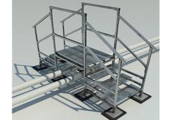 Rooftop Pipe Crossover Walkway Bridge Rooftop Support