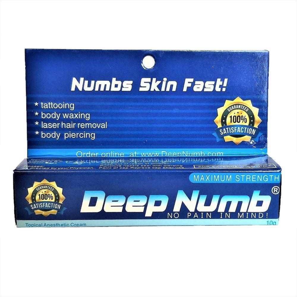 10gram deep numb numbing cream painless tattoo body