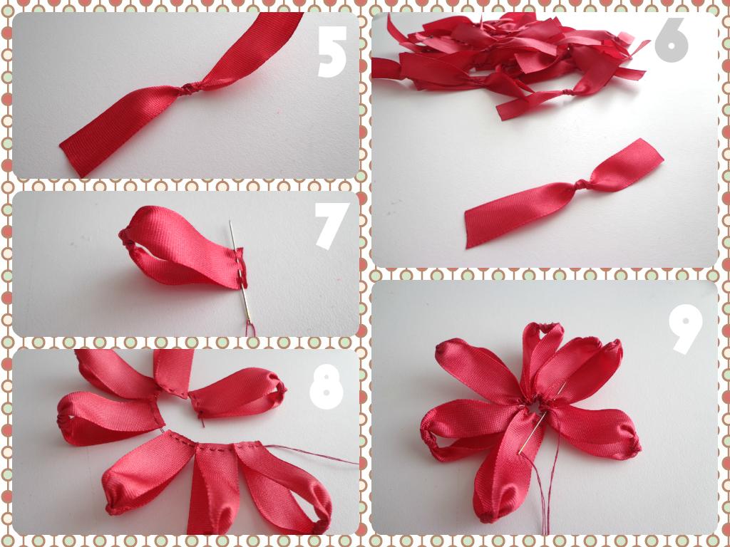 Fiorella flores en tela tutorial 9 una linda flor con - Manualidades de tela ...