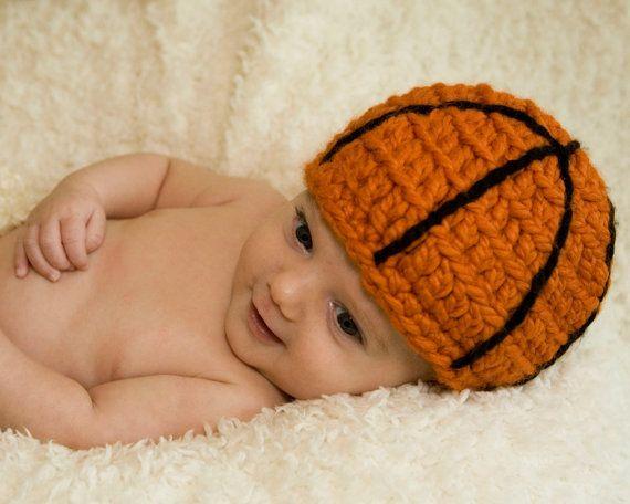eec614a9d05 Basketball Baby Hat Toboggan Beanie Crochet Kids Accessories Toddler Child  Boy Girl Toddler Newborn Photography Photo Prop Gift