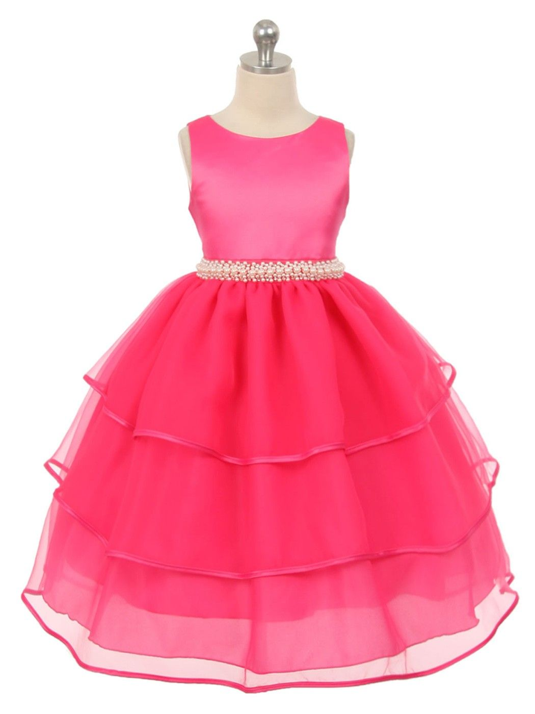 Fuschia colored flower girl dresses