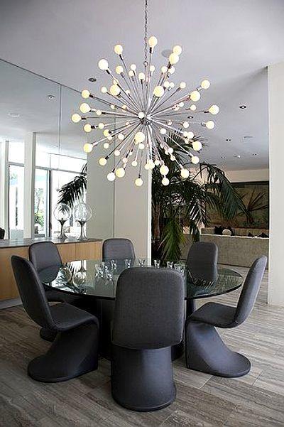 iluminación para comedores con lámparas elegantes Ideas home - comedores elegantes