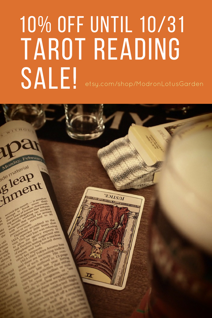10% Off All Tarot and Oracle Readings - Modron Lotus Garden - Get ...