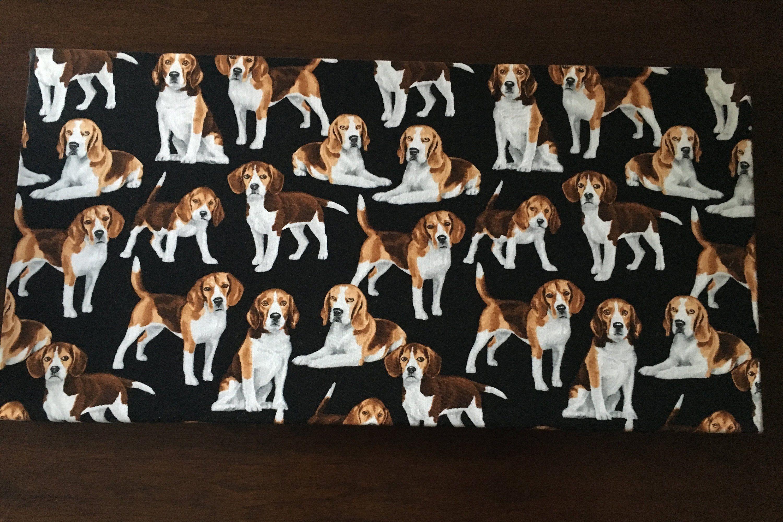 Beagle Fabric Magnetic Bulletin Board W Hooks 10 X 20 Beagle