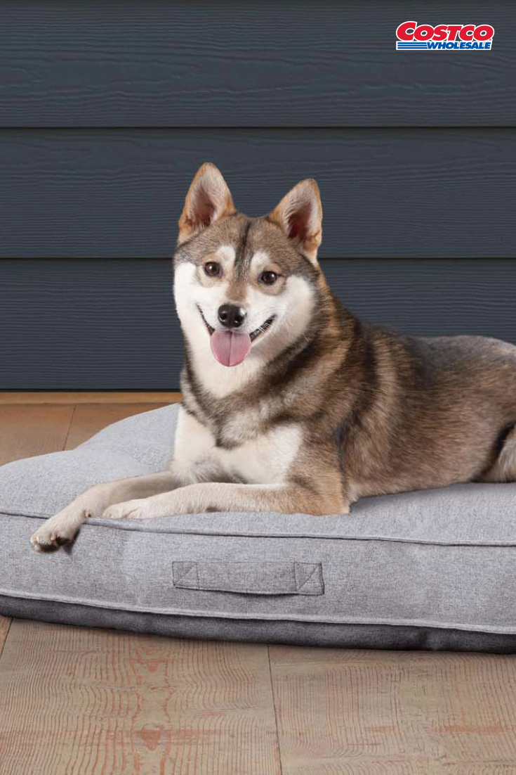 Kirkland Signature Square Tufted Pet Napper, Grey Bow