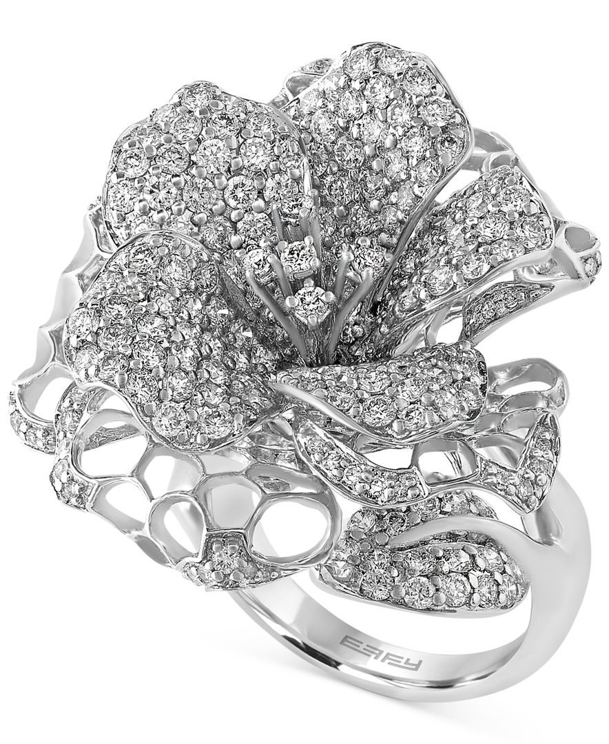 Pave Classica By Effy Diamond Flower Ring 3 12 Ct Tw In 14k