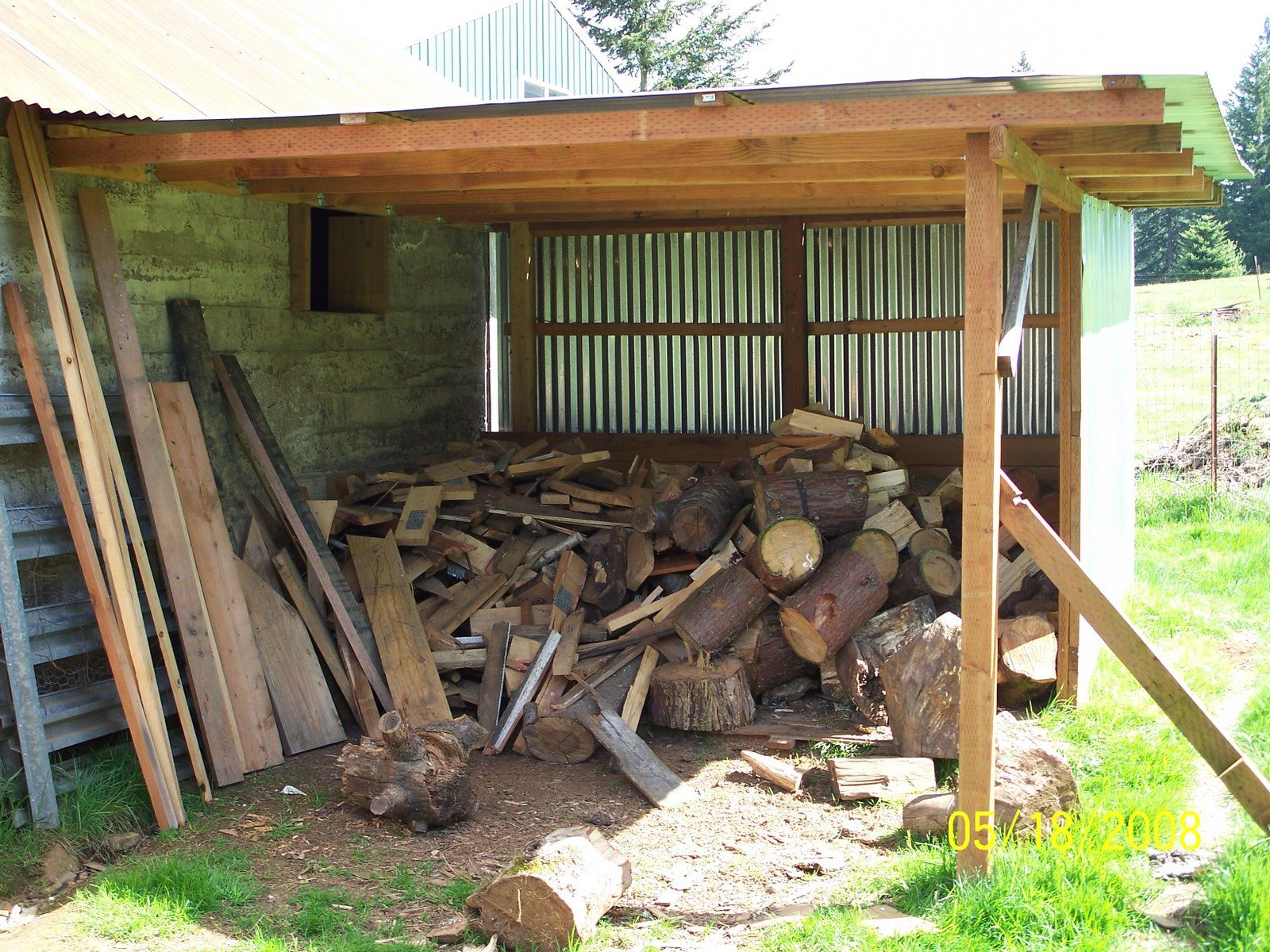 Free firewood shed plans quick woodworking projects for Lean to barn