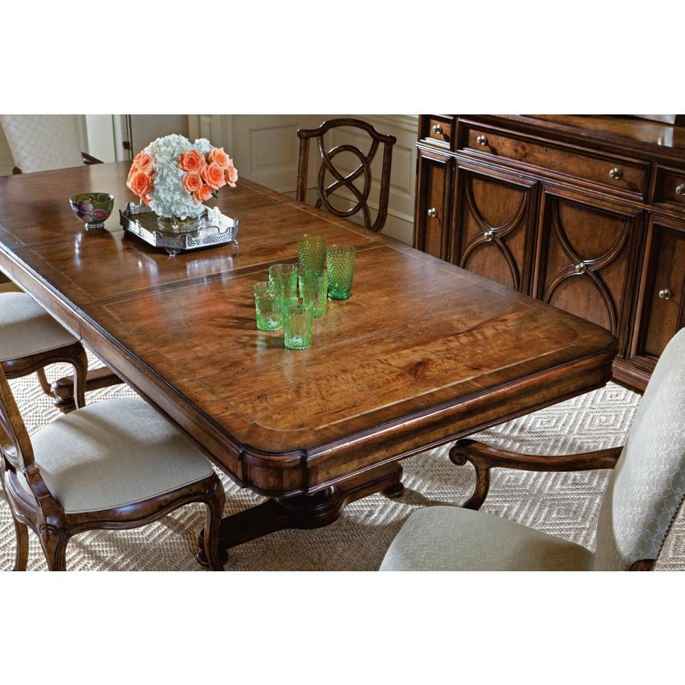 Stanley Arrondissement Famille Pedestal Table In Heirloom Cherry SKU 222 11