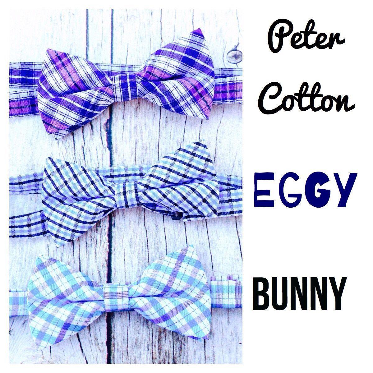Boys Plaid Checker Bow Tie- blue