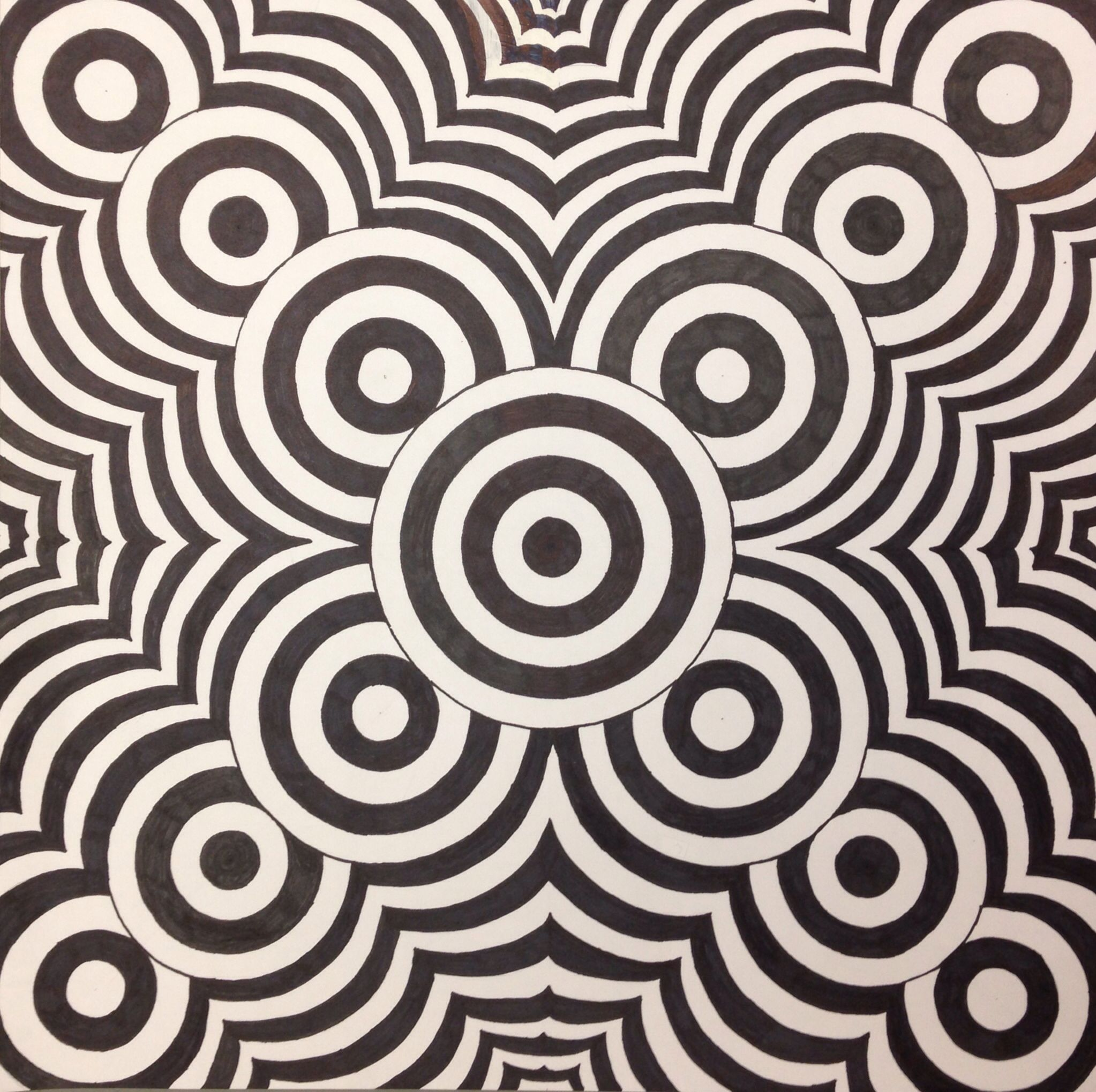 Op Art This Optical Illusion Was Made By One Of My Grade