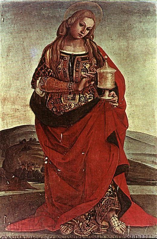 SIGNORELLI, Luca Mary Magdalene 1504 Panel Museo dell'Opera del Duomo, Orvieto