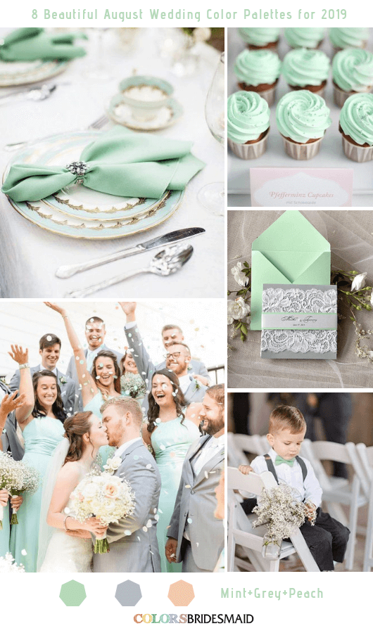 8 Beautiful August Wedding Color Palettes For 2019 August Beautiful Color Palettes Redsummerweddingtheme Summerweddingth