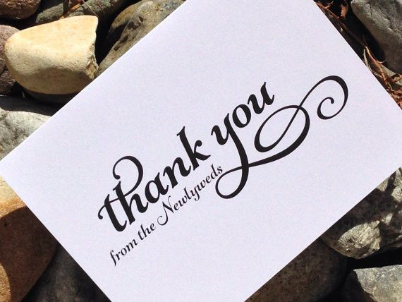 Thank You From the Newlyweds Thank You Notes Wedding, Set of 12